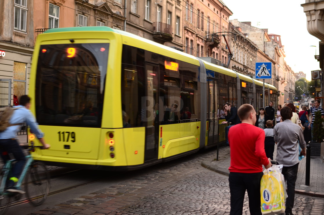 """Tram in Lviv"" stock image"