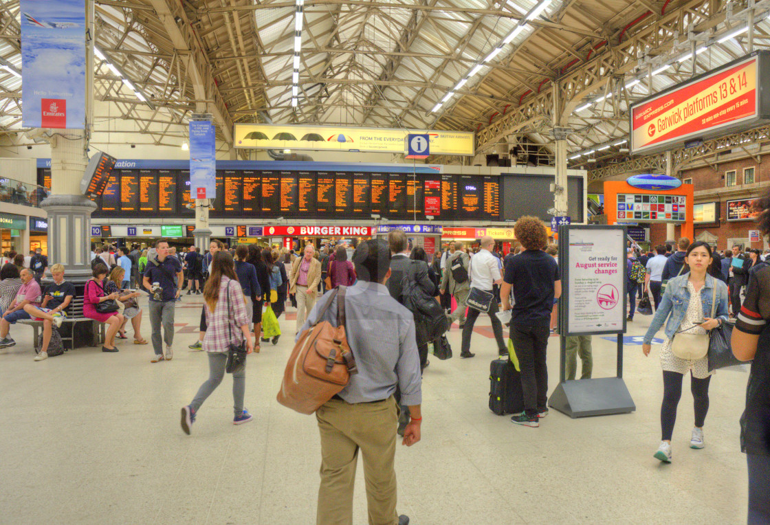 """London Victoria Train Station"" stock image"