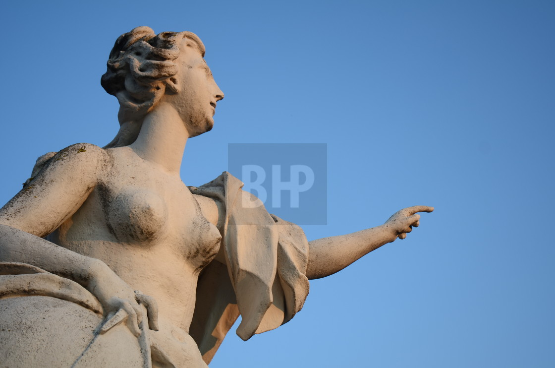 """18th Century Statue of Woman at Belvedere Palace, Vienna"" stock image"