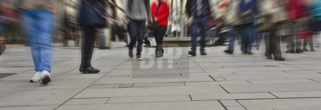 """Busy Shopping Street"" stock image"