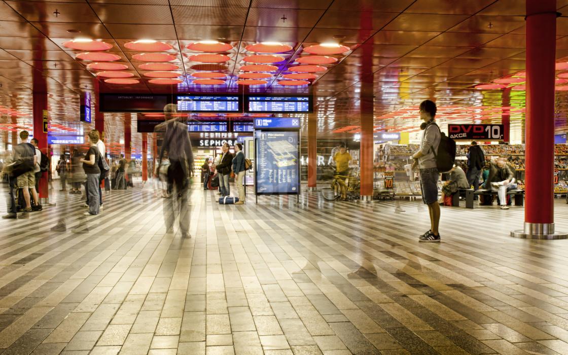 """Prague Train Station Interior"" stock image"