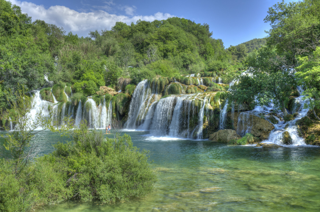 """Waterfalls in Krka National Park, Croatia"" stock image"