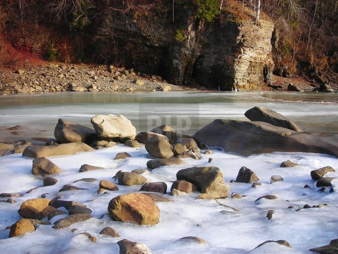 """River Prut, Ukrainian Carpathians"" stock image"