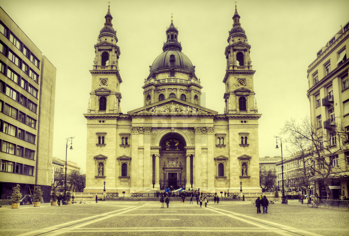 """St. Stephen's Basilica, Budapest"" stock image"