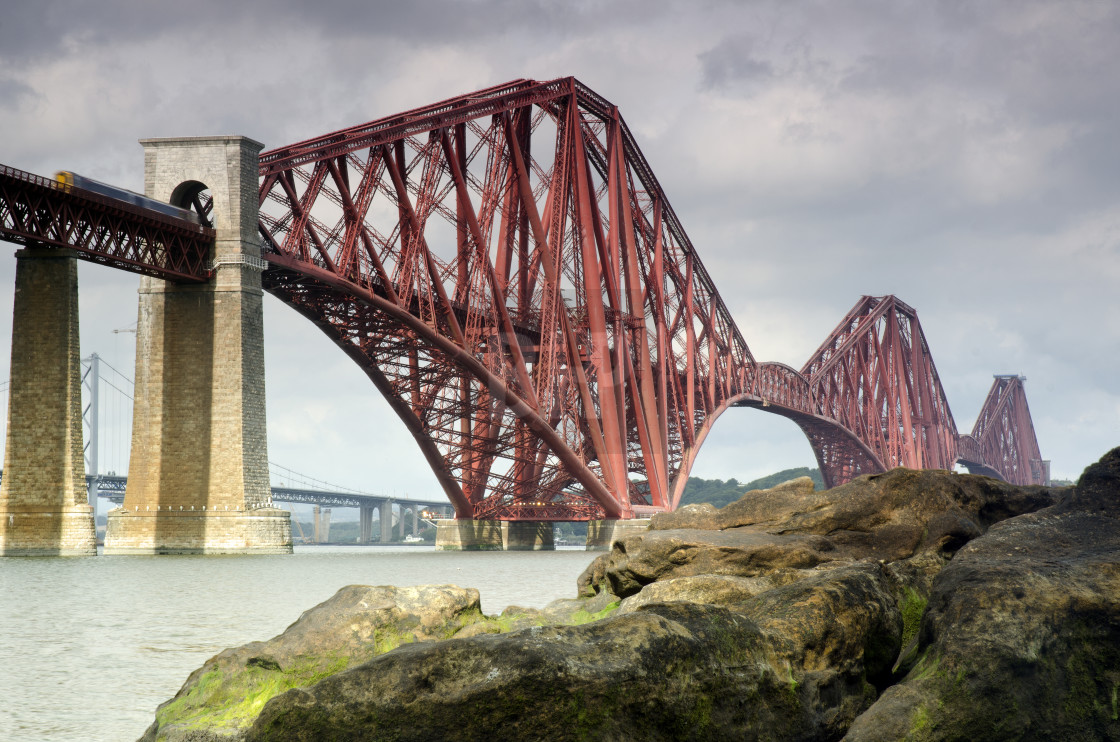 """Forth (Rail) Bridge, Scotland"" stock image"