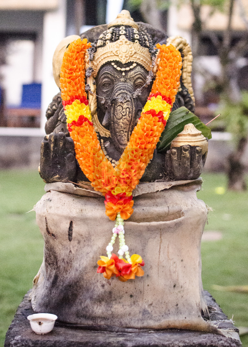 """Hindu Elephant Shrine"" stock image"