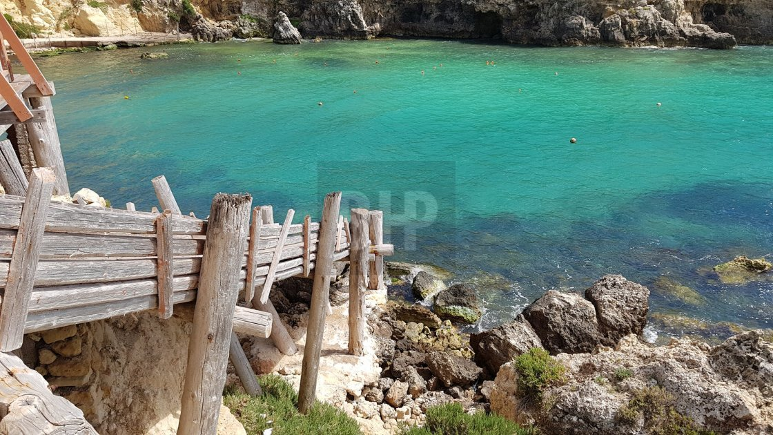 """Turquoise Waters of Maltese Bay"" stock image"