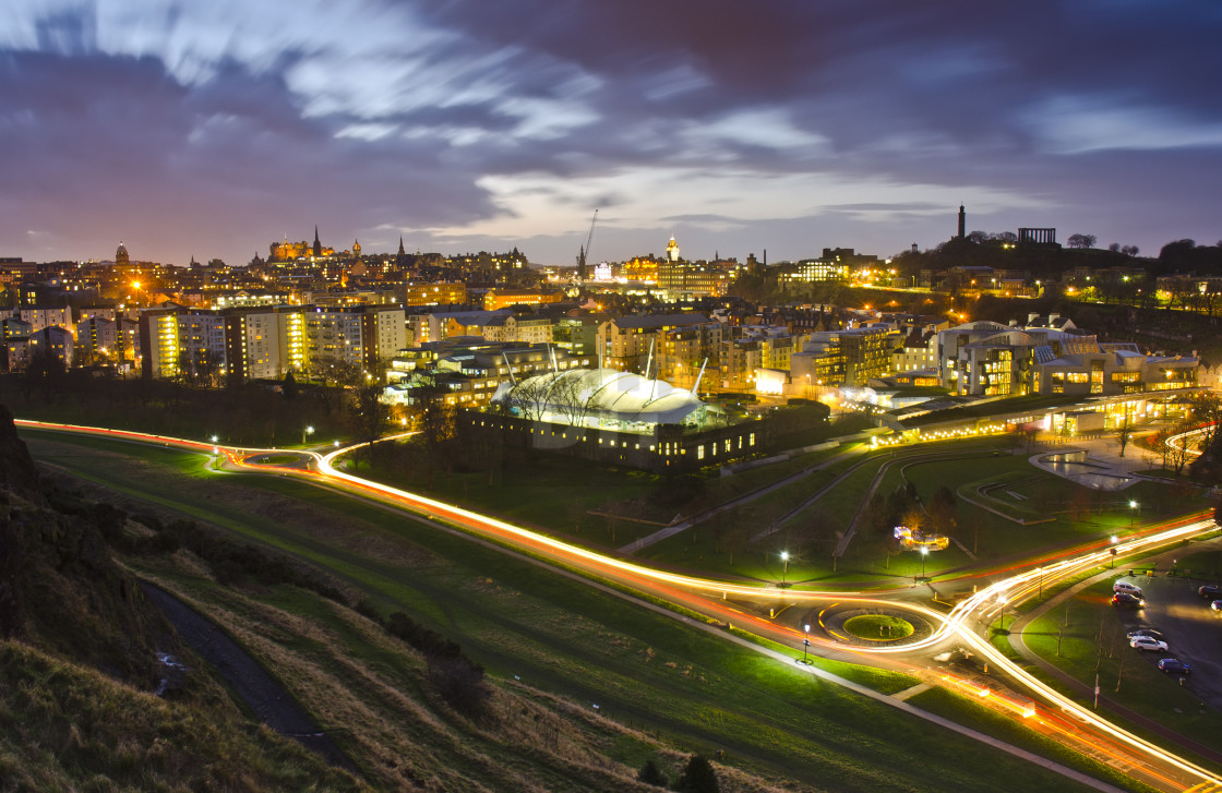 """Edinburgh at Twilight"" stock image"