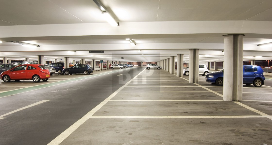 """Car Park Interior"" stock image"