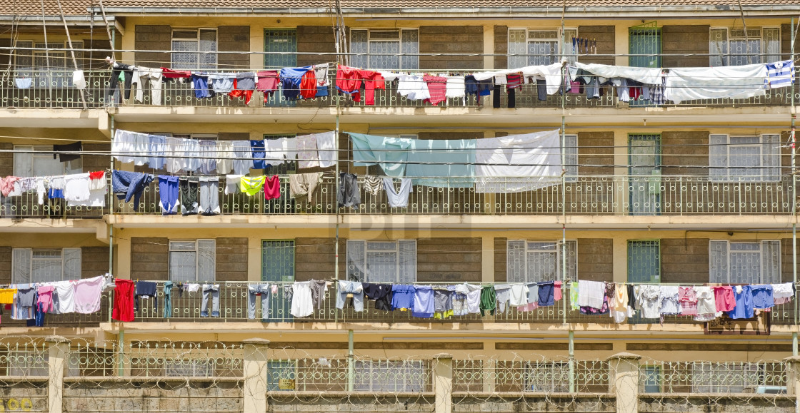 """Kenyan housing facade"" stock image"