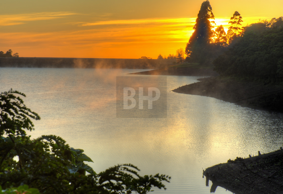 """Malawian Sunrise"" stock image"