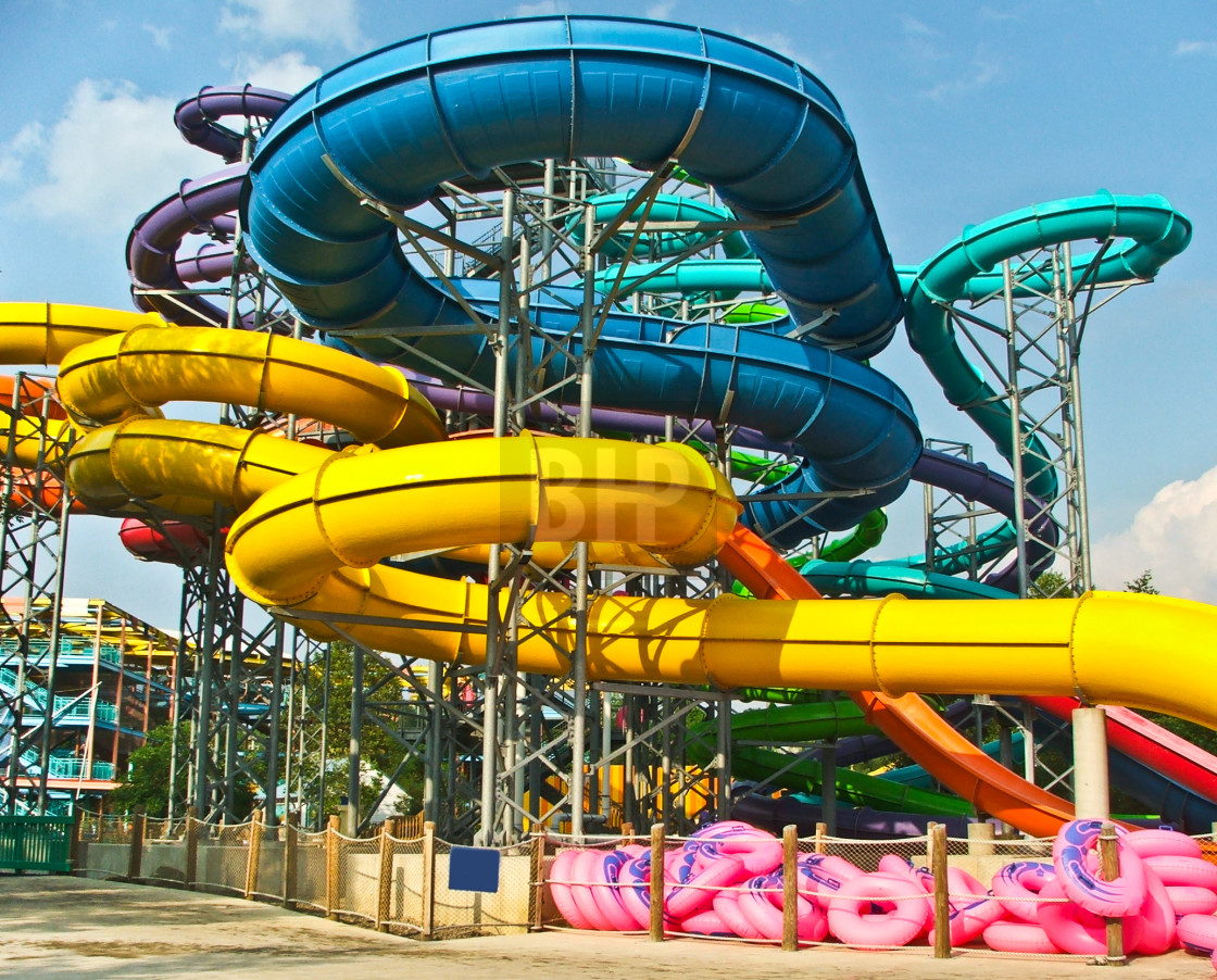 """Water Slides"" stock image"