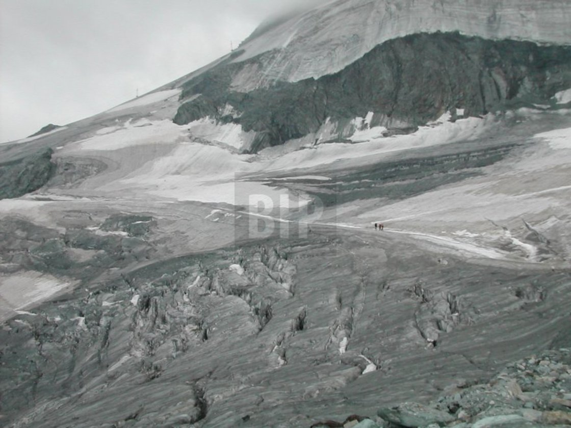 """Swiss Glacier near Saas Fee"" stock image"