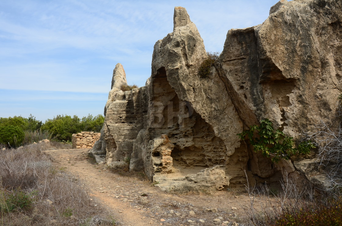 """""""Tombs of the Kings, Cyprus"""" stock image"""