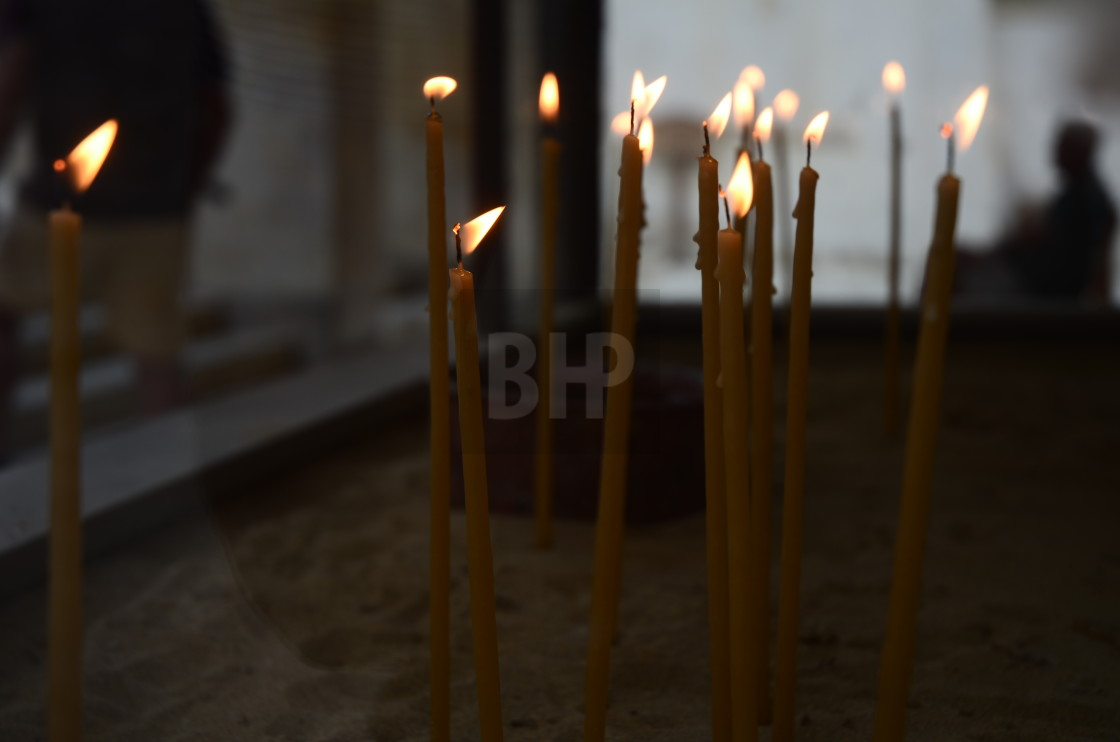 """""""Church Candles"""" stock image"""