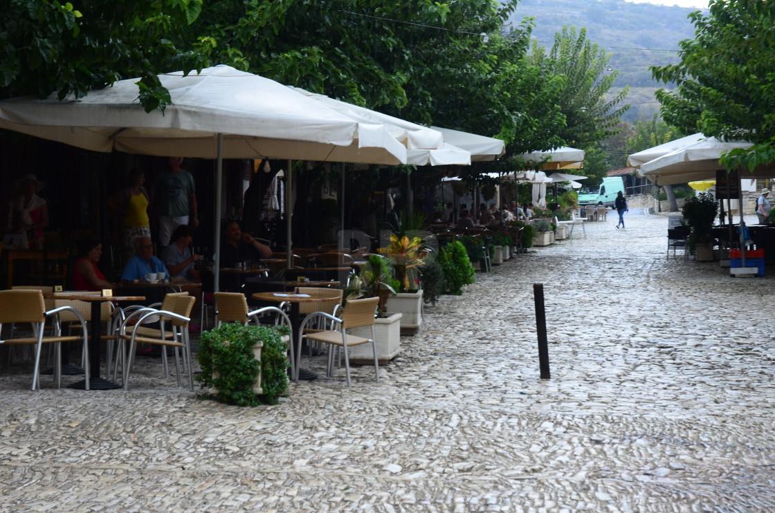 """Al Fresco Dining in Cyprus"" stock image"