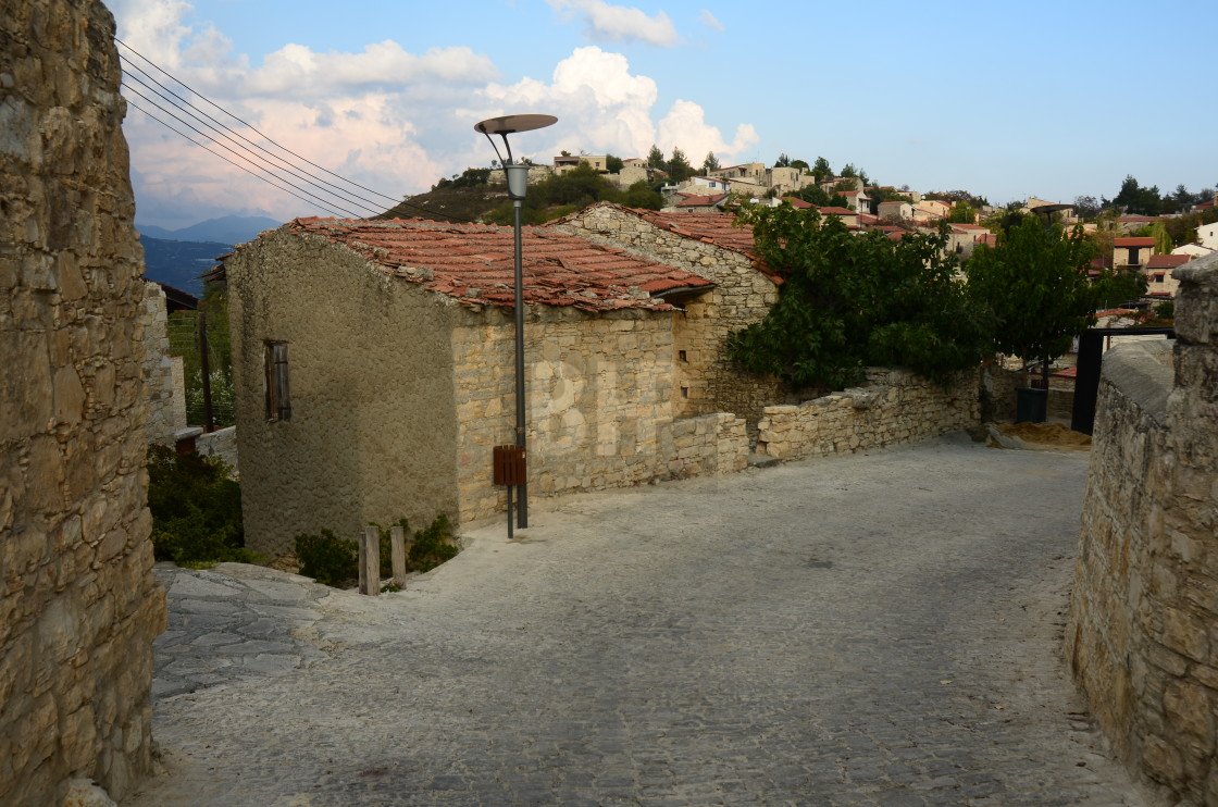 """Quaint Cypriot Village"" stock image"