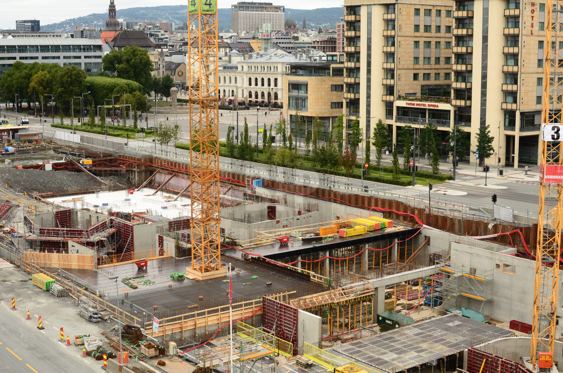 """Construction, Oslo, Norway"" stock image"