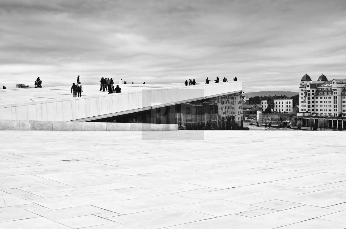 """Roof of Opera House, Oslo, Norway"" stock image"