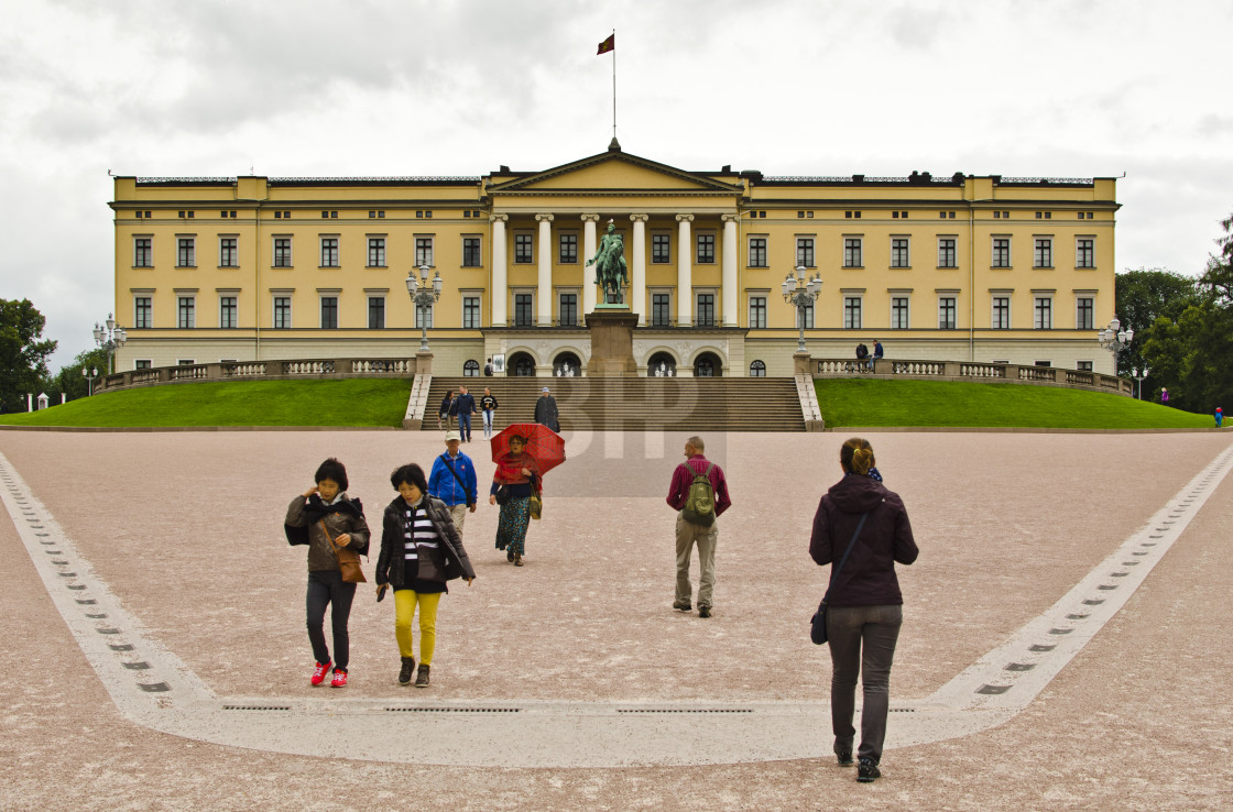 """Royal Palace, Oslo, Norway"" stock image"