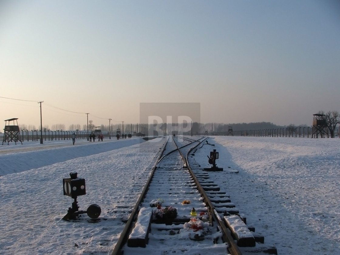 """Auschwitz Concentration Camp"" stock image"