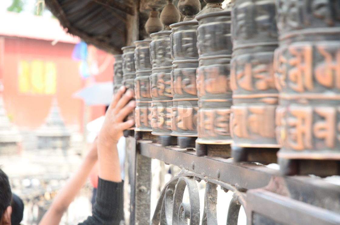 """Prayer Wheels"" stock image"