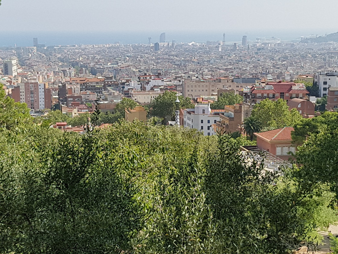 """Barcelona View from Carmel Hill"" stock image"