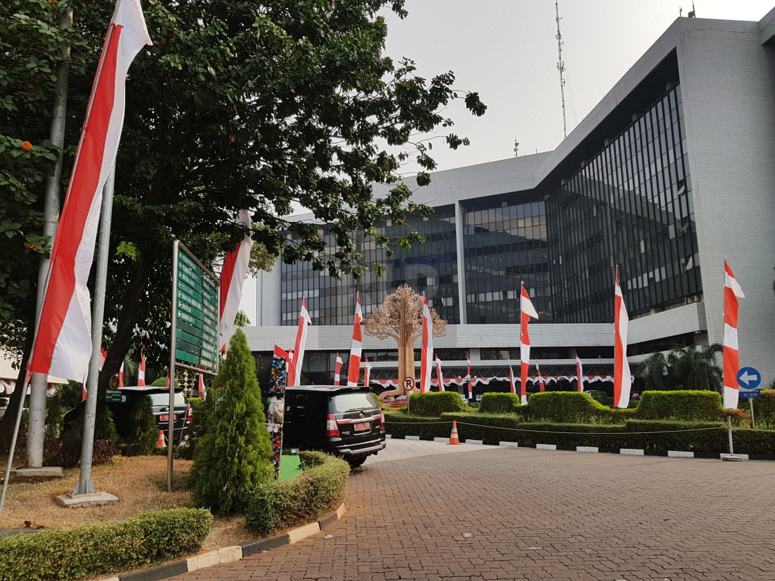"""""""Ministry of Environment and Forestry building, Jakarta, Indonesia"""" stock image"""