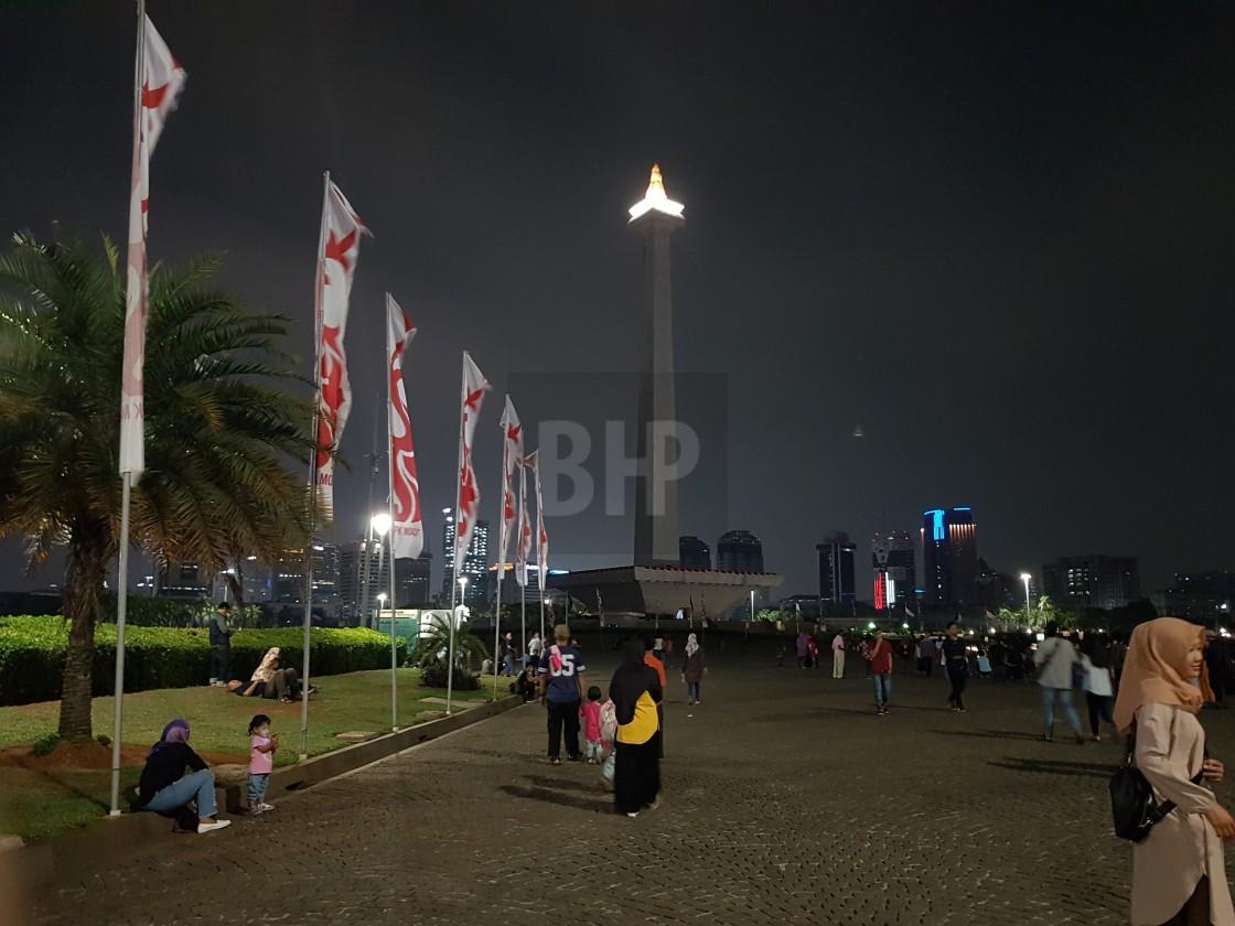 """""""National Monument, Jakarta"""" stock image"""