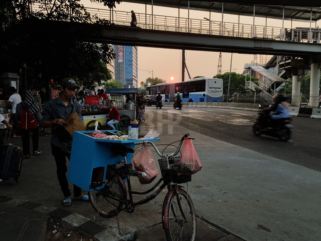 """Street food vendor, Jakarta"" stock image"
