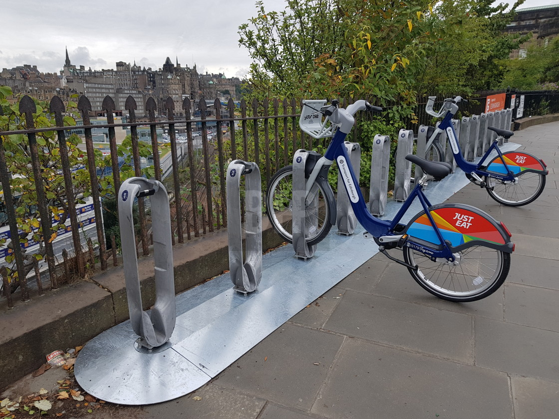 """Edinburgh Bicycle Hire Scheme"" stock image"