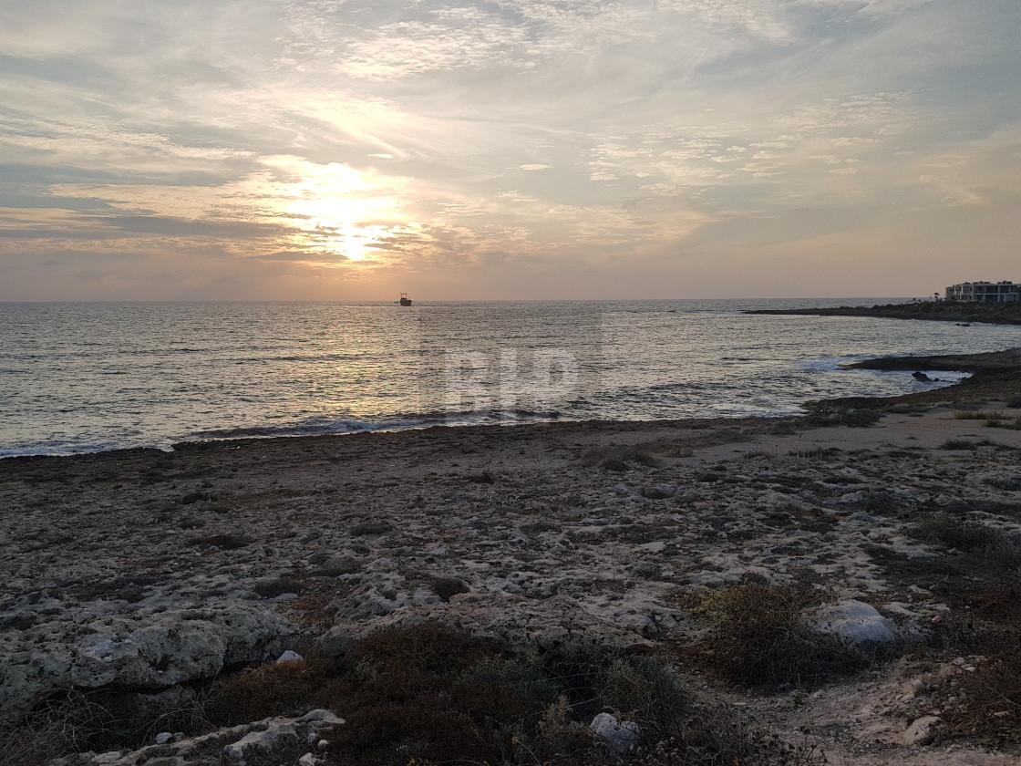 """Sunset, Paphos, Cyprus"" stock image"