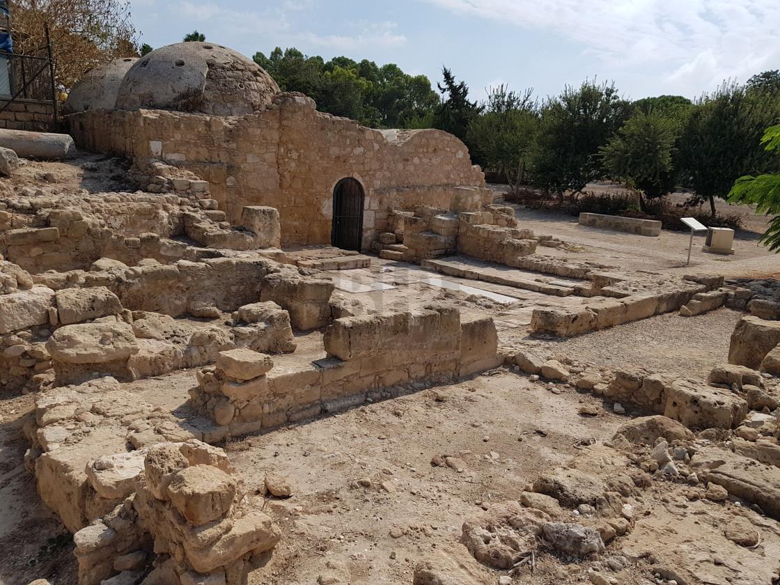 """Church ruins, Cyprus"" stock image"