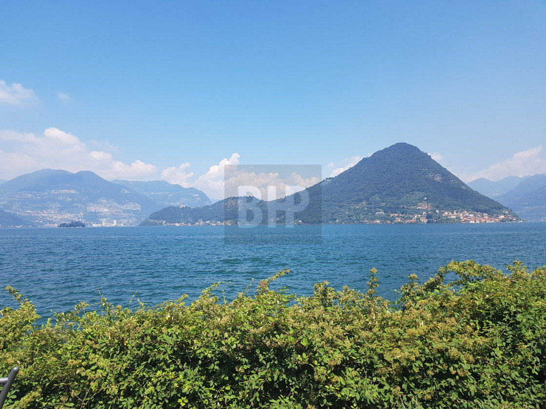 """Lago d'Iseo, Italy"" stock image"