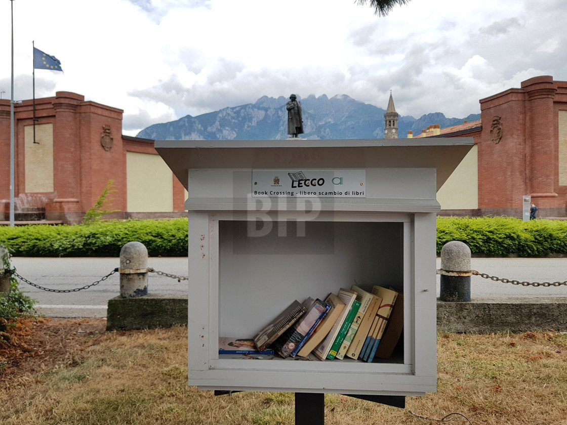 """Book Share Point, Lecco, Italy"" stock image"