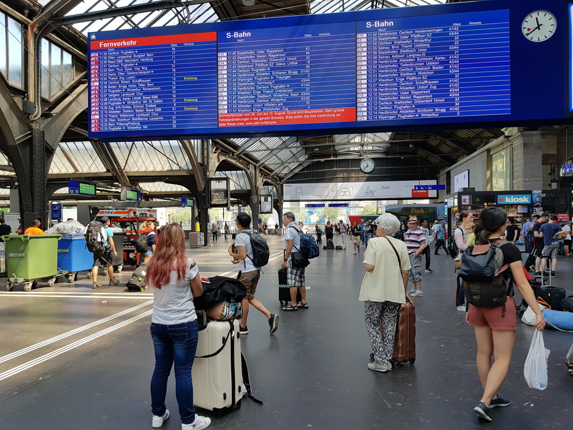 """Zurich Train Station"" stock image"