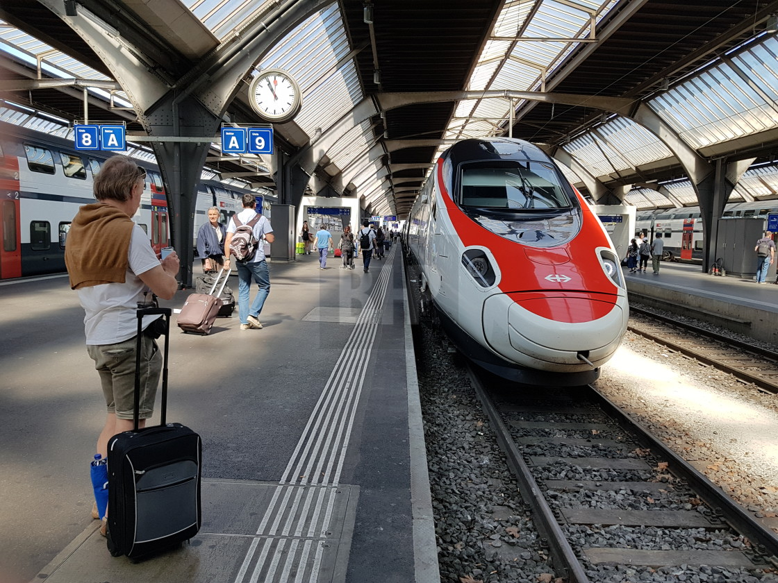 """Zurich Railway Station"" stock image"