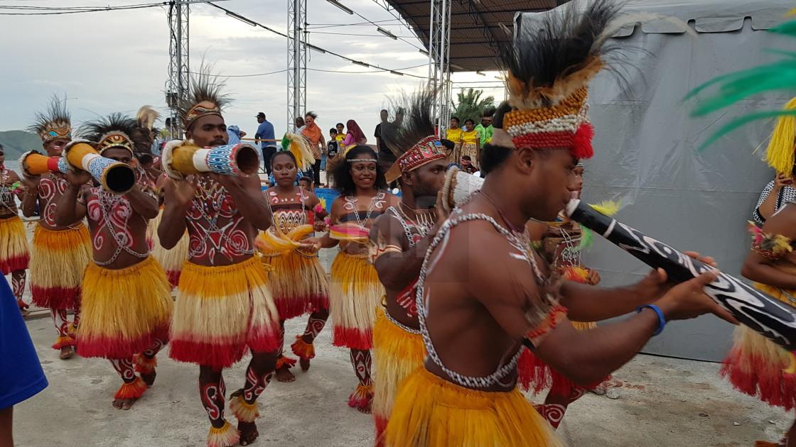 """""""Lake Sentani Festival, Papua Province, Indonesia"""" stock image"""