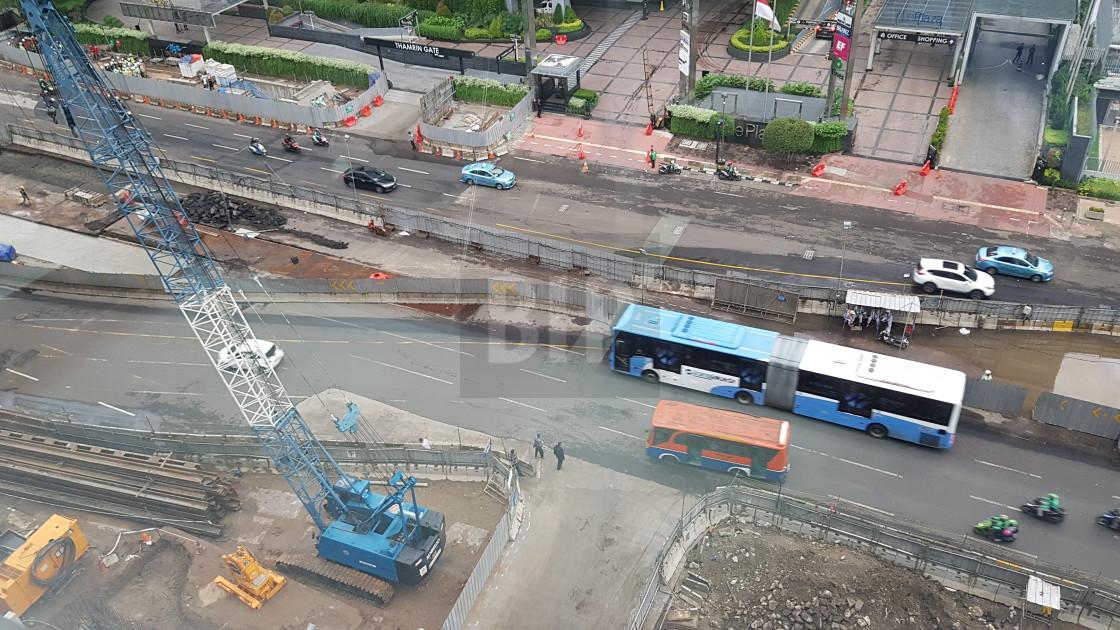"""Metro Construction, Jakarta, Indonesia"" stock image"