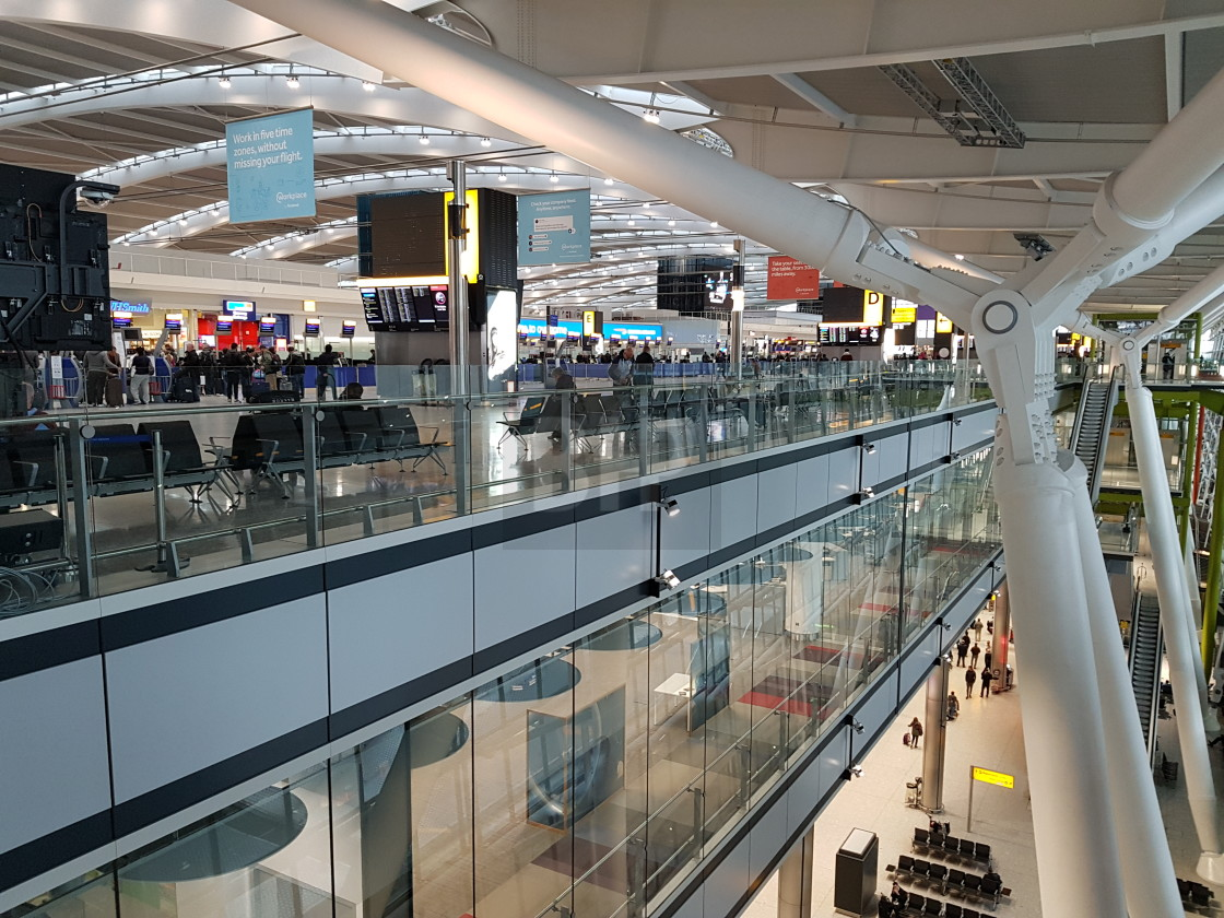 """Terminal 5, London Heathrow Airport"" stock image"