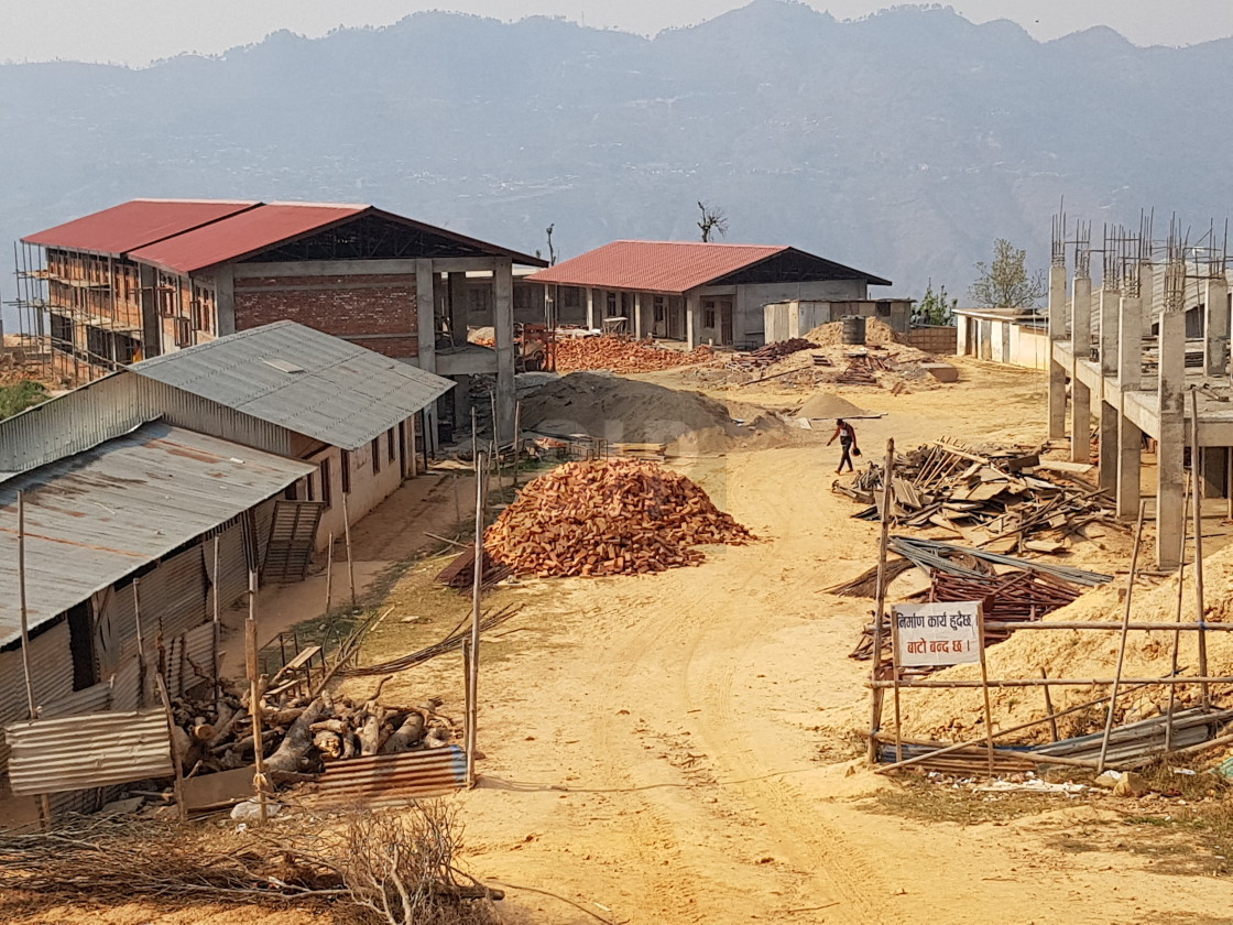 """School Construction, Gorkha District, Nepal"" stock image"