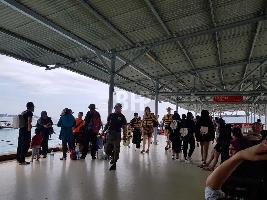 """Jesselton Point Ferry Terminal, Kota Kinabalu"" stock image"