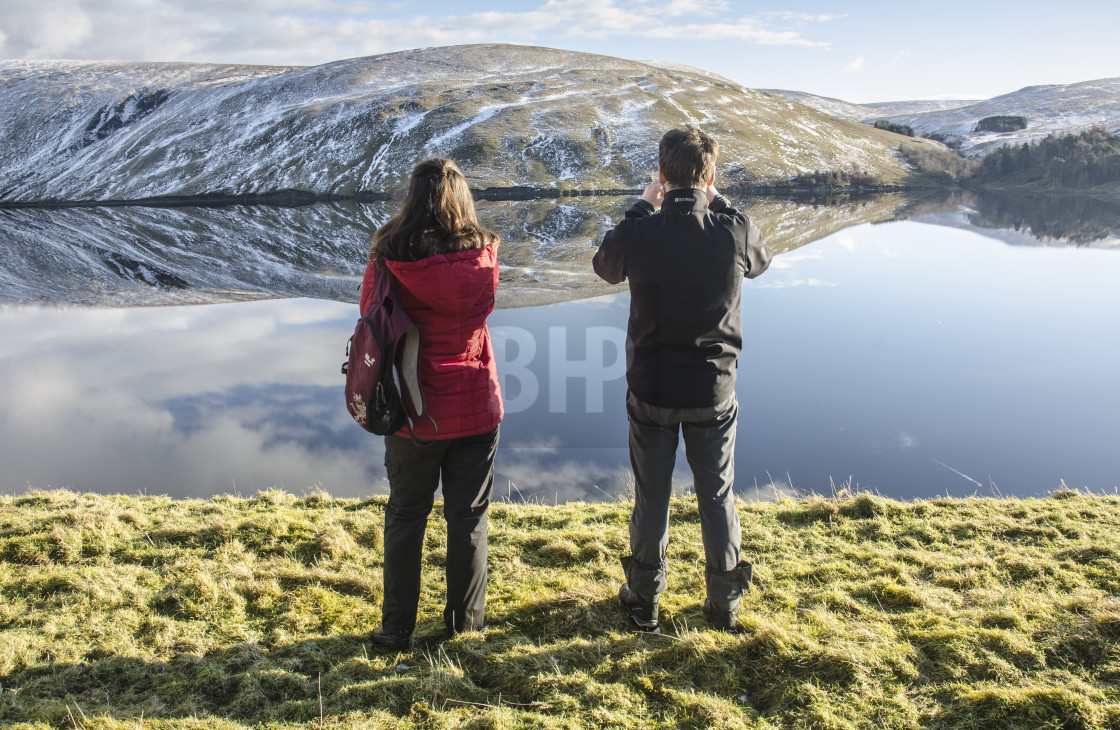 """Megget Reservoir, Scottish Borders"" stock image"