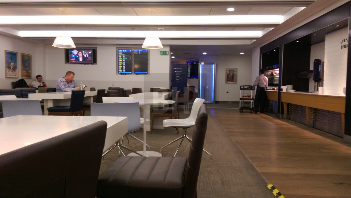 """BA Business Class Lounge, Heathrow Terminal 5"" stock image"
