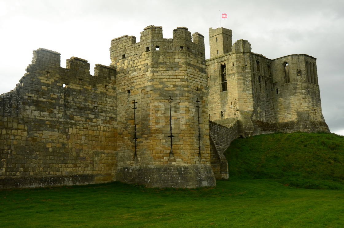 """Warkworth Castle"" stock image"