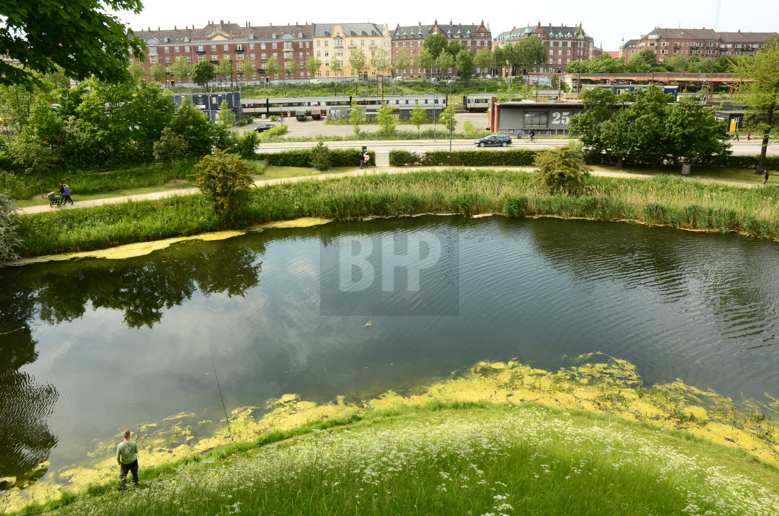 """View from Kastellet, Copenhagen, Denmark"" stock image"