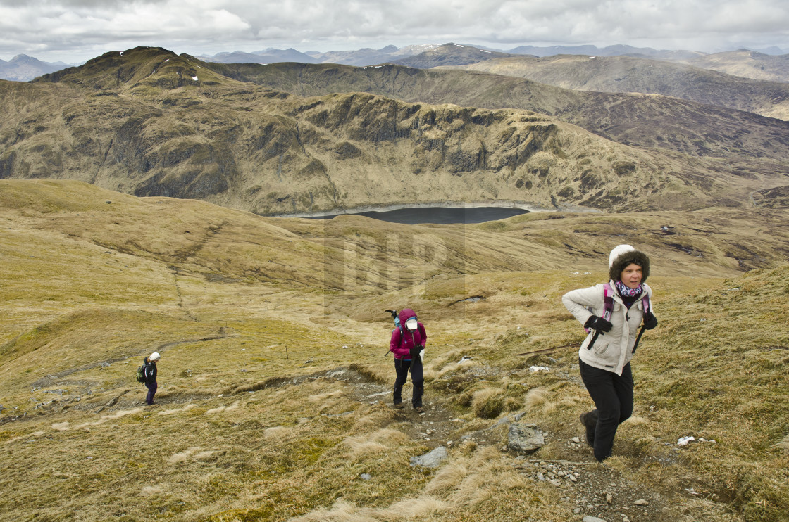 """Hiking, Scotland"" stock image"