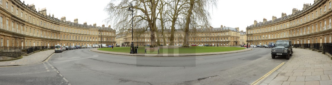 """Circus Place, Bath"" stock image"