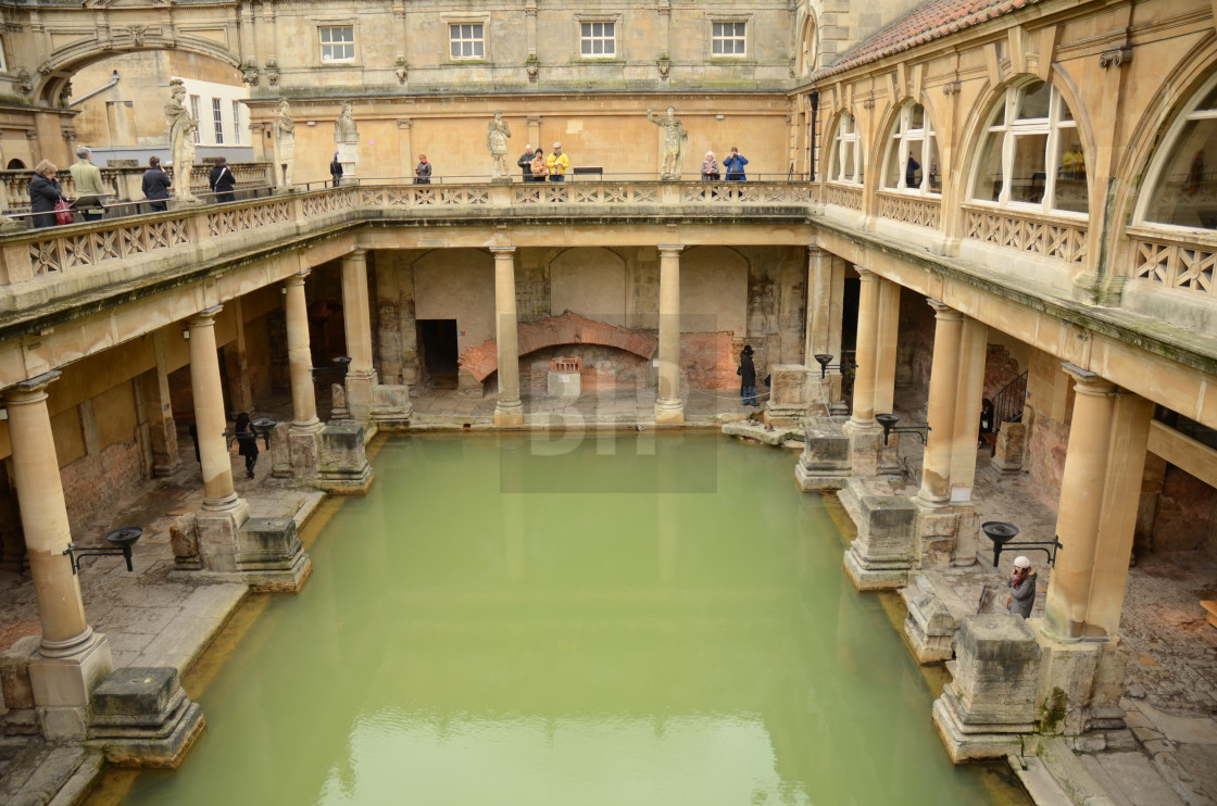 """Roman Baths, Bath"" stock image"