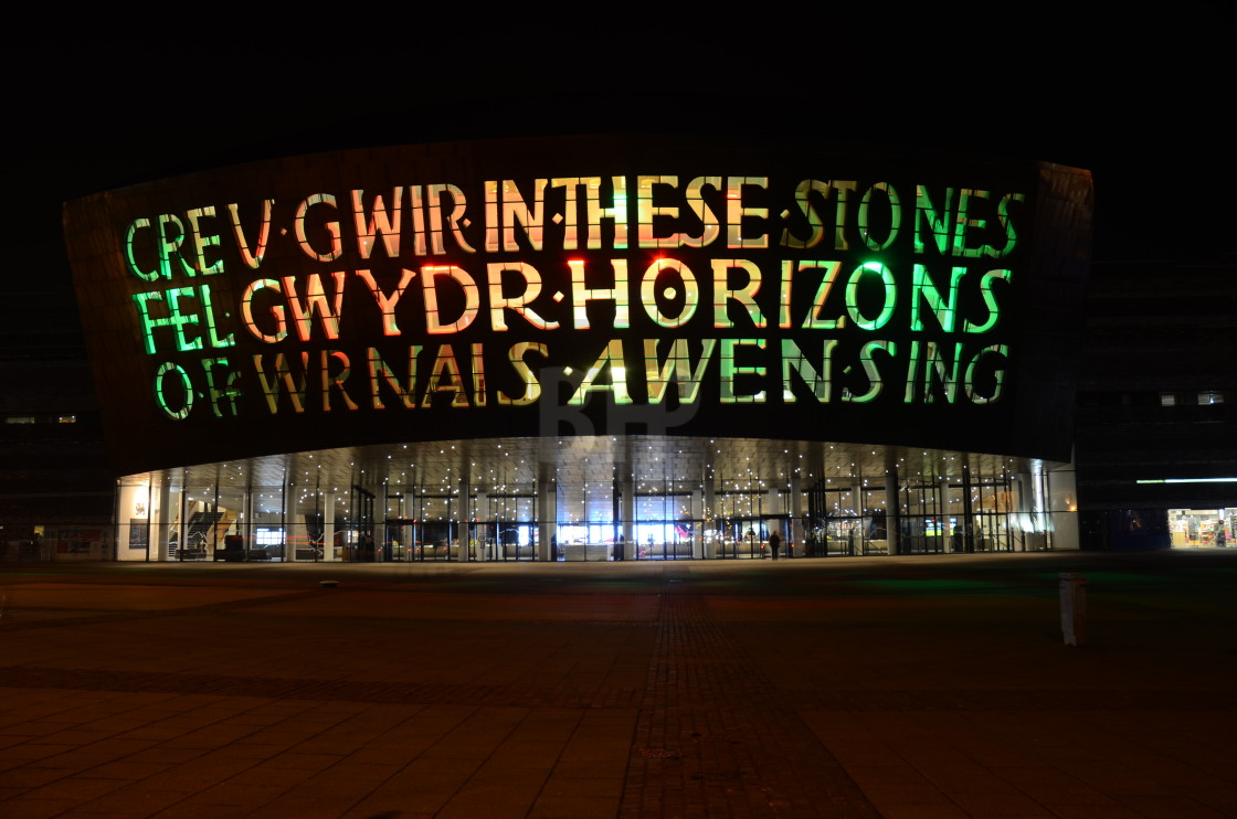 """Wales Millennium Centre, Cardiff"" stock image"